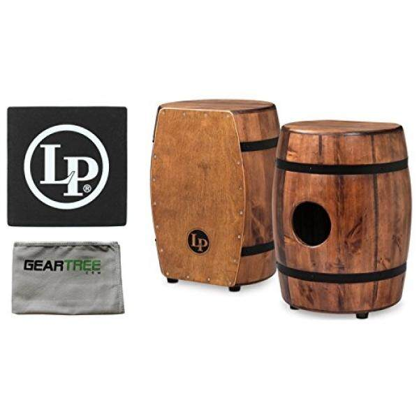 LP M1406WB Matador Whiskey Barrel Cajon Tumba w/ Cleaning Cloth and Seat Pad / From USA