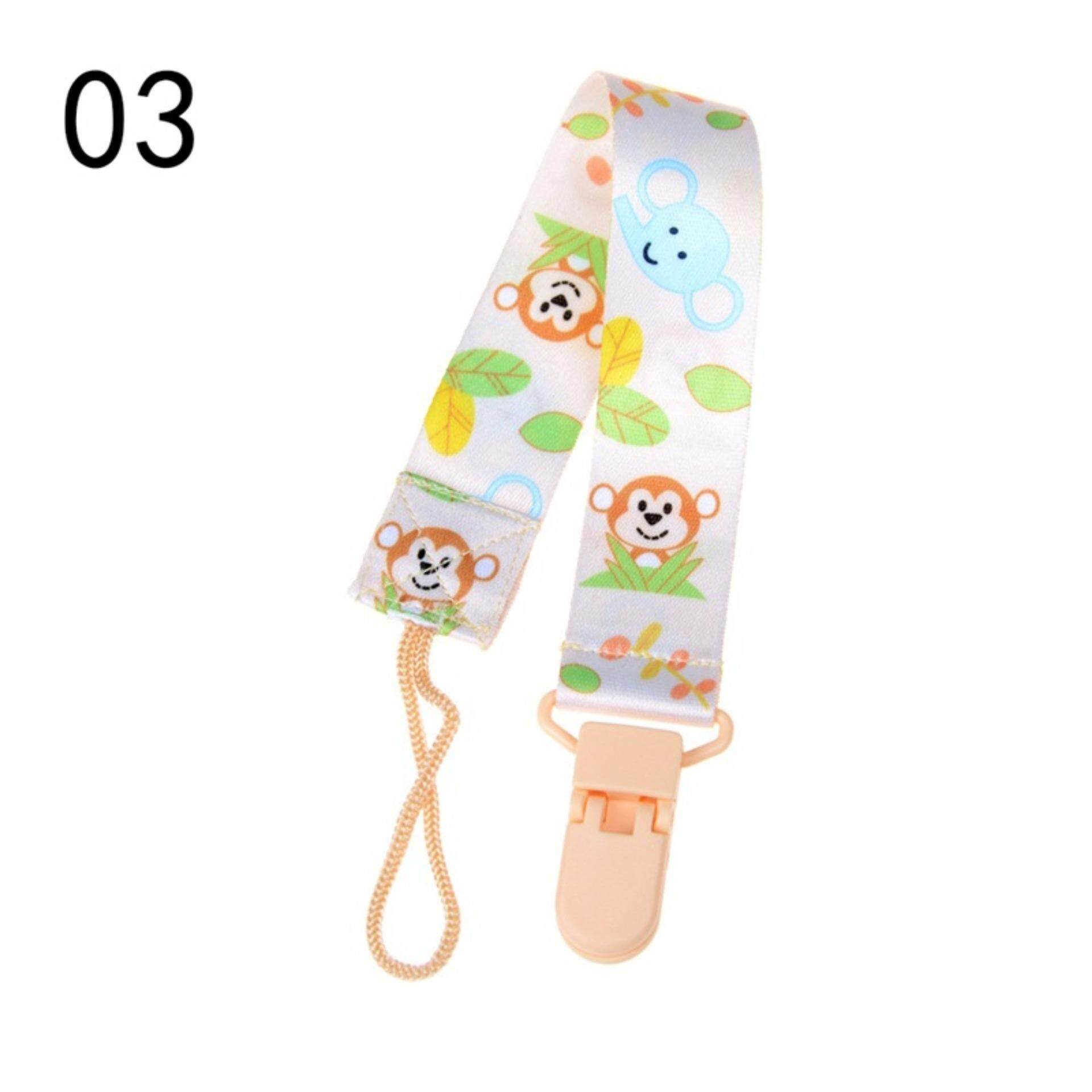 Baby Infant Pacifier Soother Nipple Ribbon Leash Strap Chain Clip Holder Type:A3