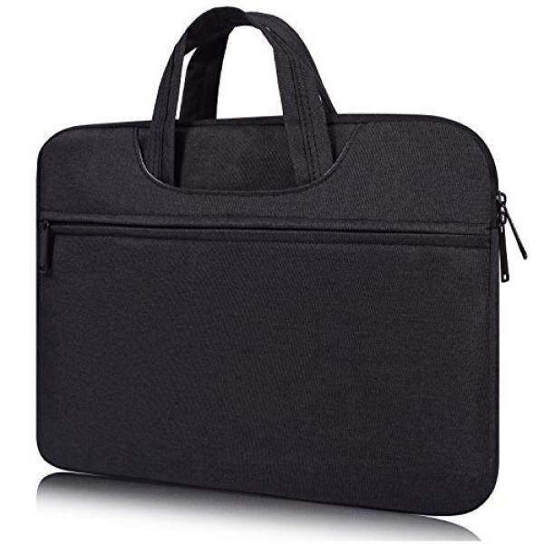 Laptop Messenger Bags Macbook Pro 15 2016 Case, 14.1-15.4 Inch Universal Water Repellent Shockproof Laptop Sleeve Case for HP Stream 14, Acer Chromebook 14, Lenovo Yoga 910 14, Asus Dell HP Lenovo Samsung Notebook, Black - intl