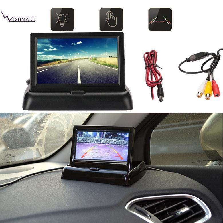 Wishmall Reverse Monitor Car Monitor Lcd Screen 2w Universal Foldable By Wishmall.