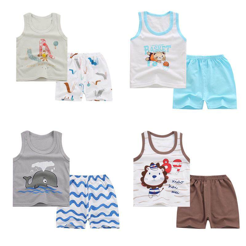b14b970570e7b (4 pcs in a pack)Newborn Baby Clothes Set Infant Baby Children Toddler Kids