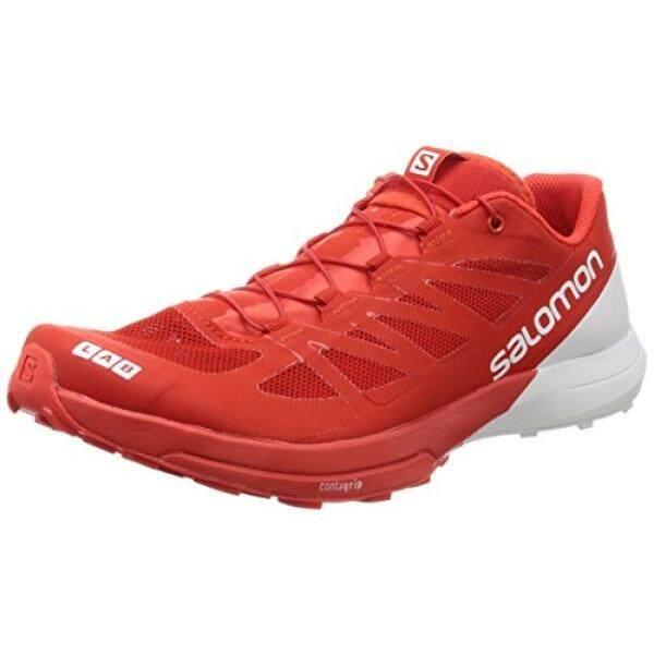 0206ab2ecf Salomon Unisex S-Lab Sense 6 Running Trail Shoes Racing Red White White