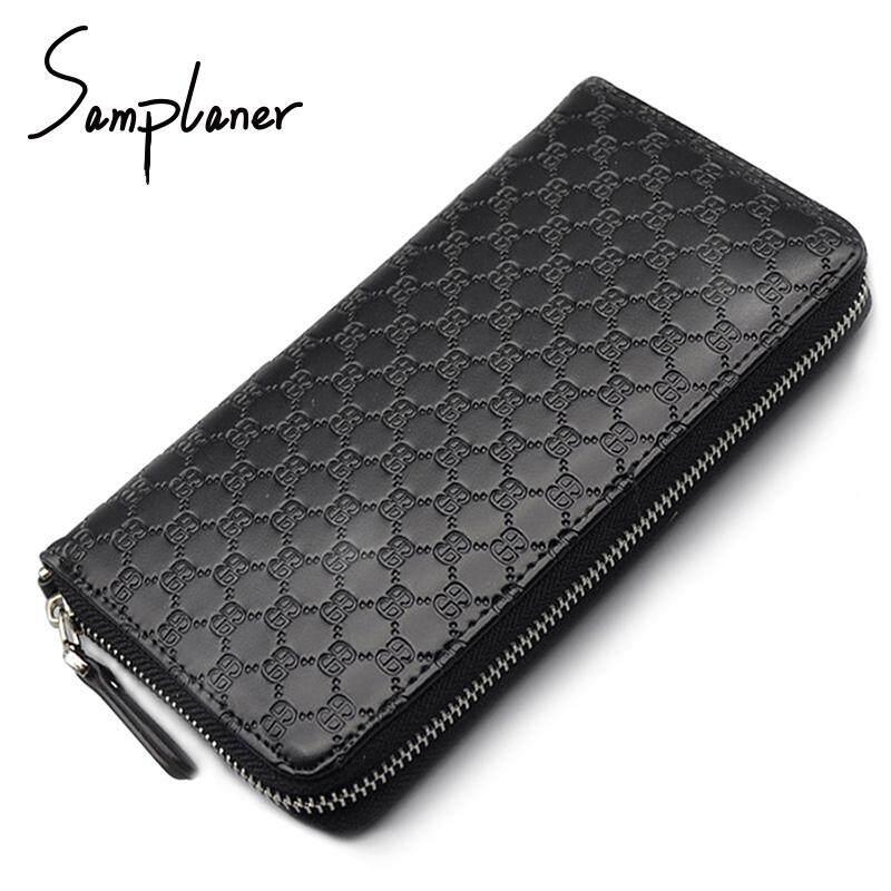 Zzooi Samplaner Genuine Leather Long Men S Wallets Clutch Big Zipper Male Wallet Men Coin Purse