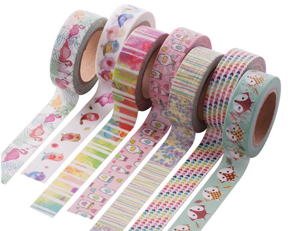 Mua 4rolls 15mm*10m Cute Fox Pattern Washi Tape Single Sided Adhesive Tape Scrapbooking Diary Paper Tape Sticker - intl