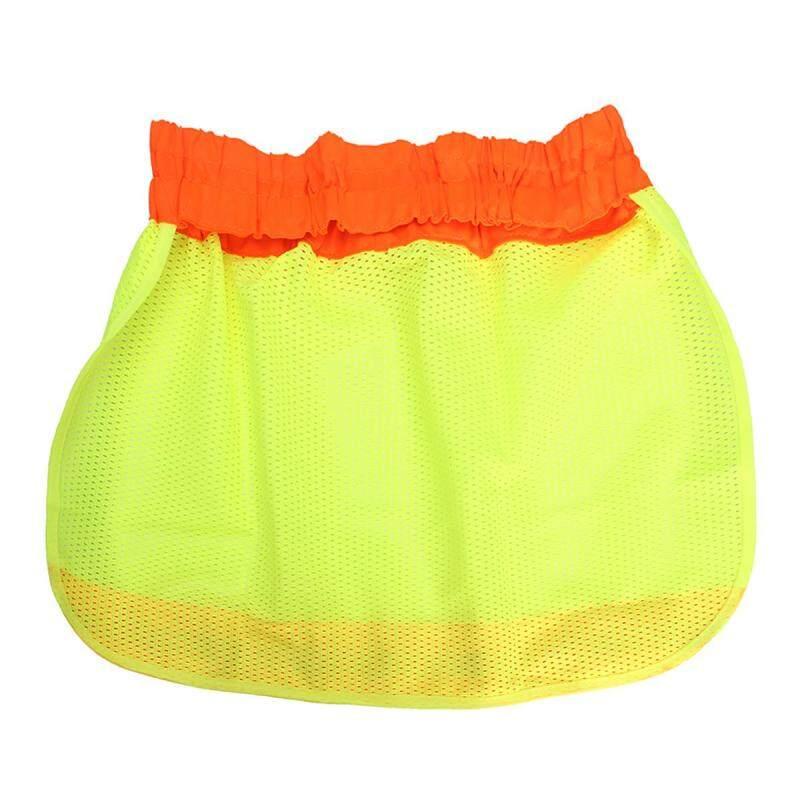 Safety Hard Hat Neck Shield Helmets Sun Shade HI VIS Reflective Stripe Yellow