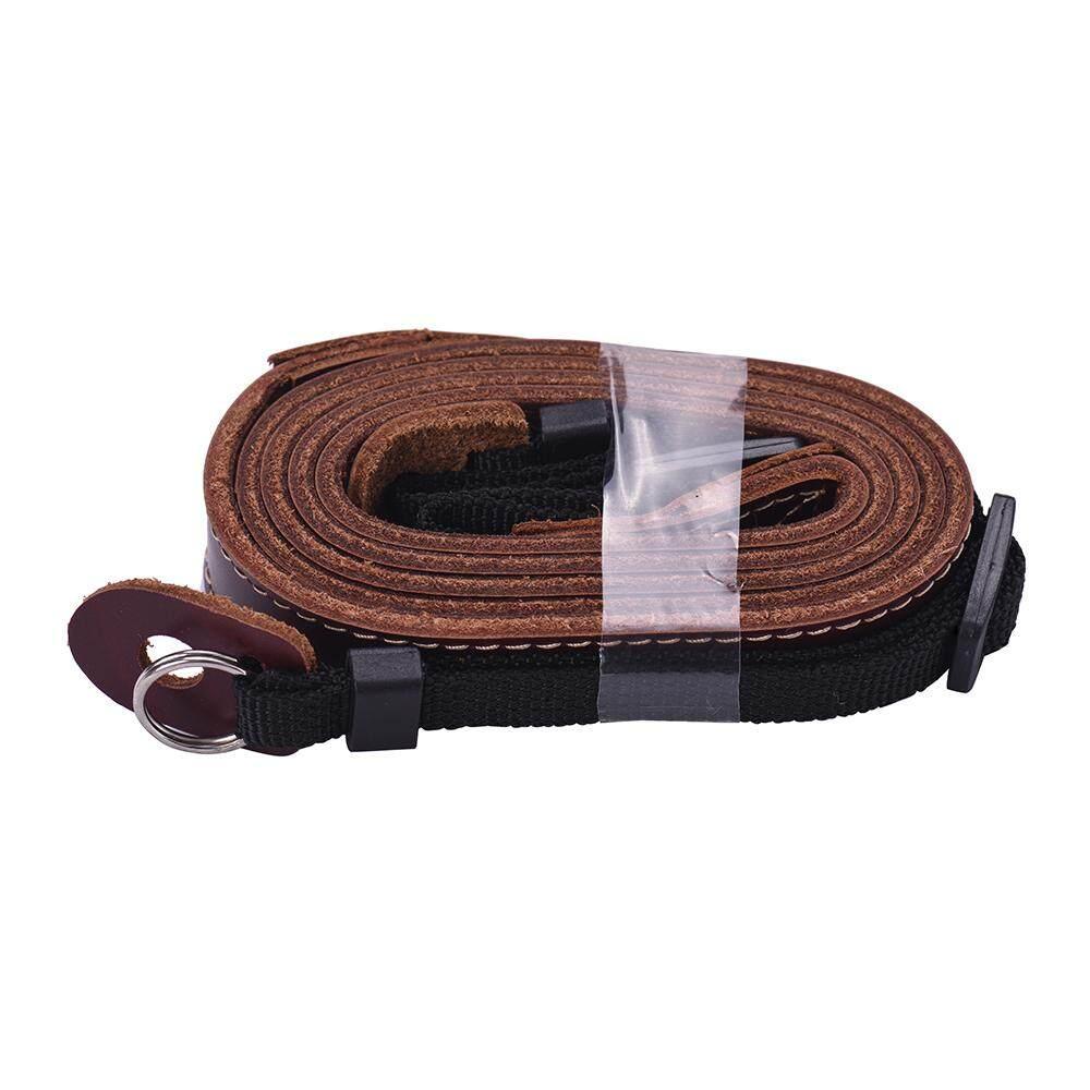Fitur Pu Leather Camera Strap Shoulder Neck Belt Quick Sling For Tali Kamera Dslr Mirorrless Hitam Sony A6500 A6300 A6000 A5100 A5000
