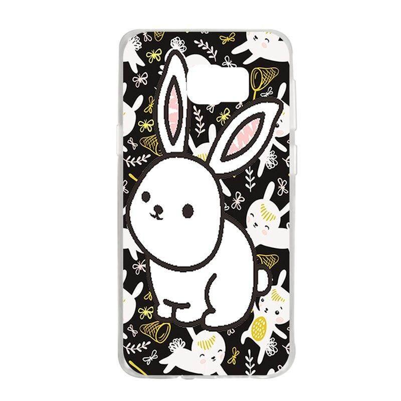White Rabbit TPU Soft Silicon Phone Case Cover For Samsung Galaxy S6 Edge Plus