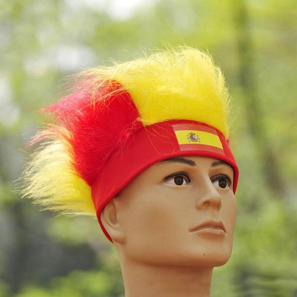 2018 Rusia Piala Dunia Penggemar Sepak Bola Topi Bendera Nasional Spanyol Warna Rambut Palsu By Magic Cube Express.