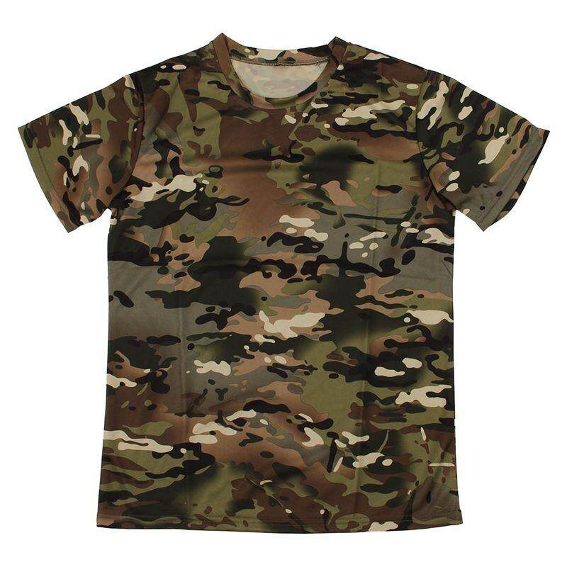 0f9eda9a03d4 New Outdoor Hunting Camouflage T-shirt Men Breathable Combat T Shirt Dry  Sport Camo Camp