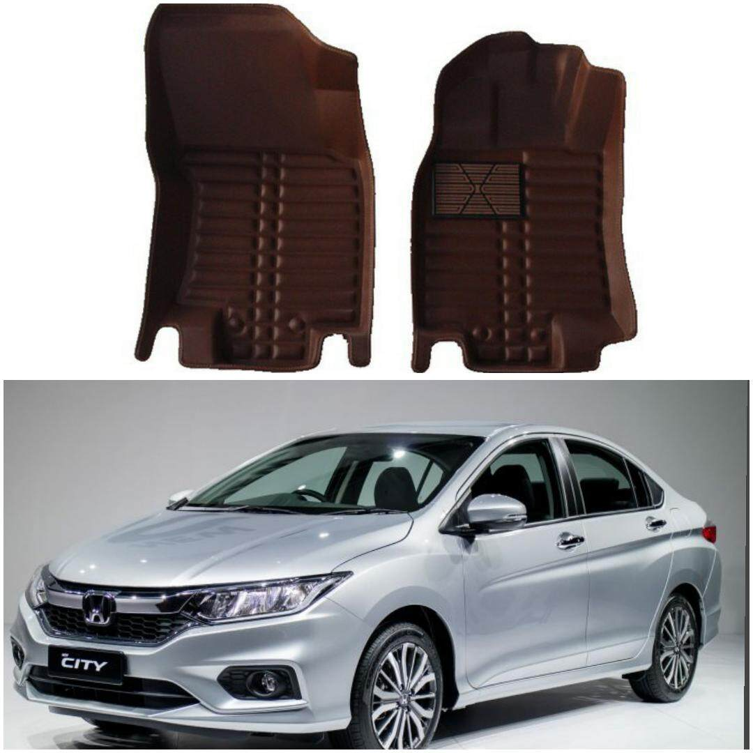 READY STOCK HONDA CITY CAR FLOOR MAT WATERPROOF (FULL SET LEATHER)