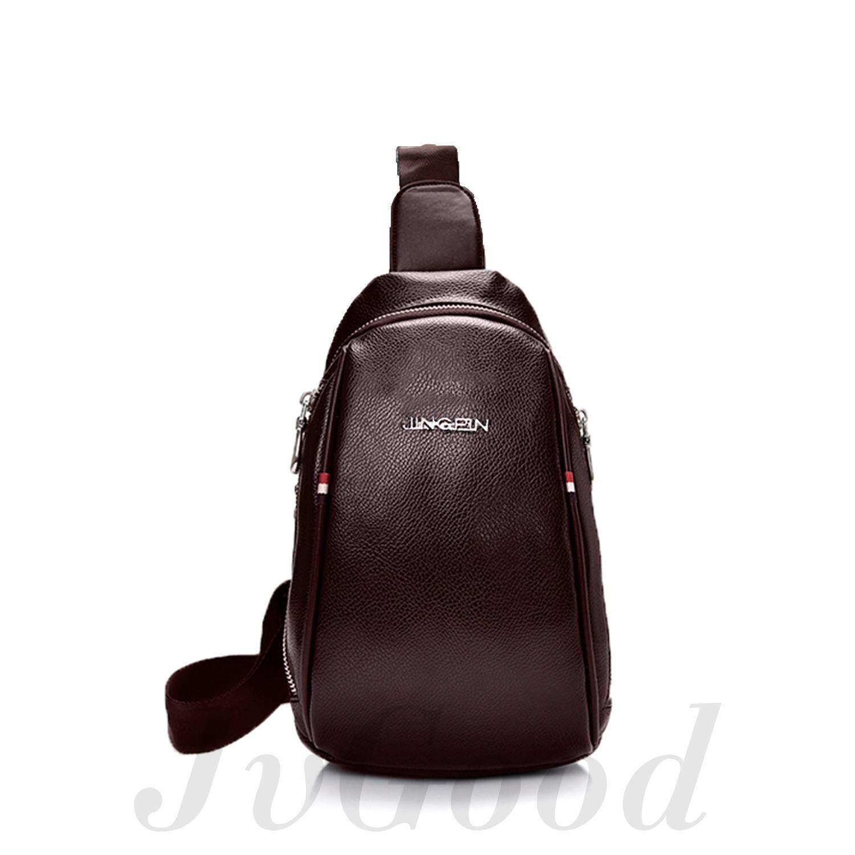 Detail Gambar JvGood Tas Selempang Pria Messenger Bags Sling Bags Anti Thief Leather Sling Bags Terbaru