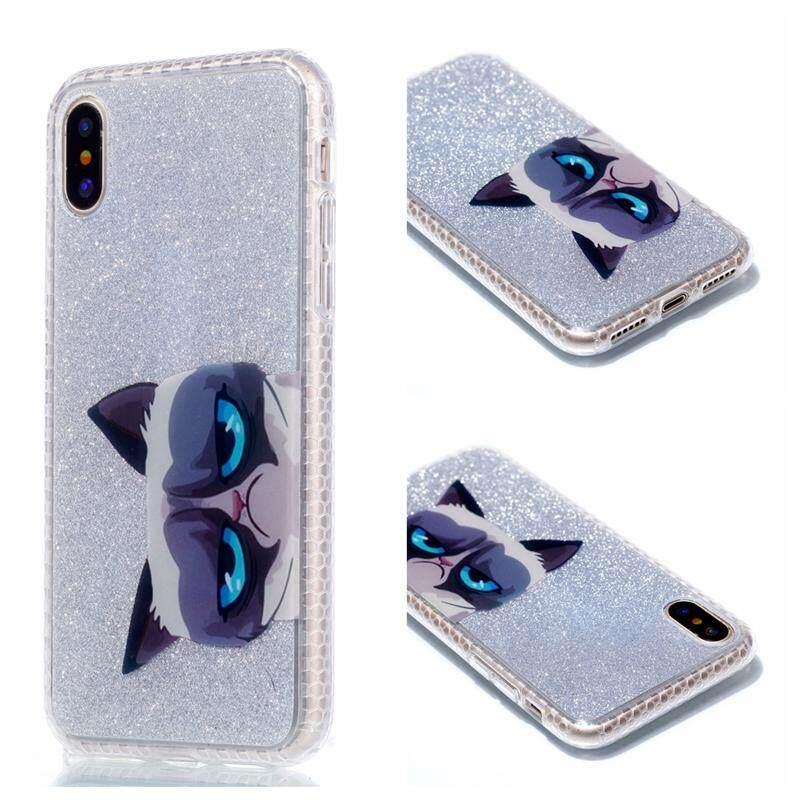 Cocok untuk UNTUK iPhone X Iphone X Ultra Tipis Bling Glitter Mengkilap TPU Ponsel Casing Belakang
