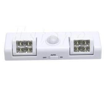 Bandingkan Toko 8 LED Lampu Kabinet Auto PIR Sensor Gerak Lemari Dapur Lemari Lampu Closet sale