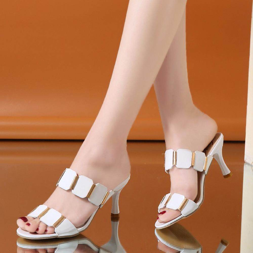 Endowed Fashion Women Fish Mouth Sandals Ankle High Thin Heels Party Open Toe Shoes(eu Size) By Endowed.