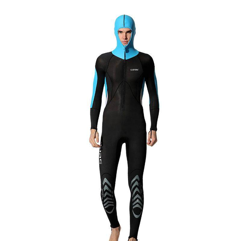 40454e20728 HISEA 0.5MM Snorkeling Dive Skin Rash Guards with Men Jumpsuit Wetsuit  Surfing Prevent From Jellyfish
