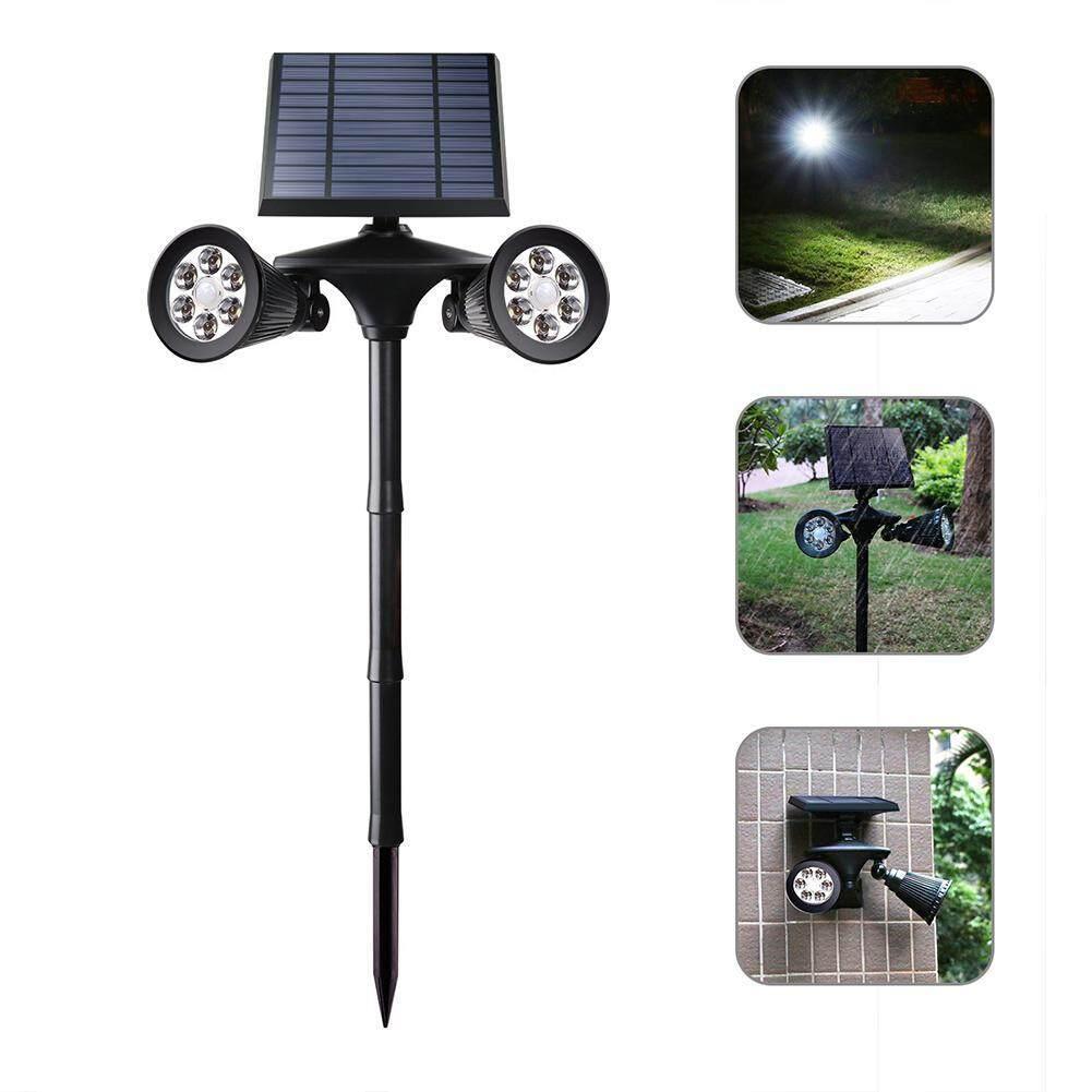 Solar double-head human sensor garden light, automatic ON/OFF