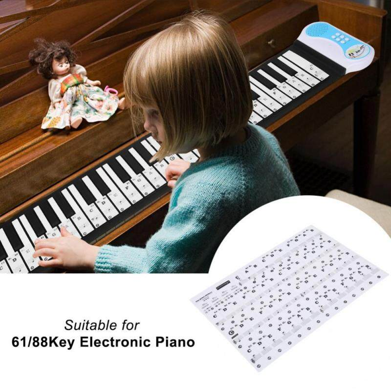 Transparent Removable Piano Key Board Sticker for 61/88 Key Electronic Pianos (Black) Malaysia
