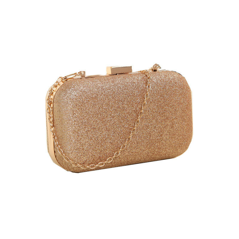 Product details of Free Shipping Evening Party Glitter Chain Hand Bags  Clutch Box (Gold) bfb245f63f82