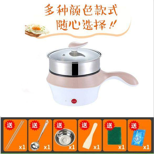 (KHAKI)18cm Multifunctional Electric Cooker/Steamer with stainless steel steam layer