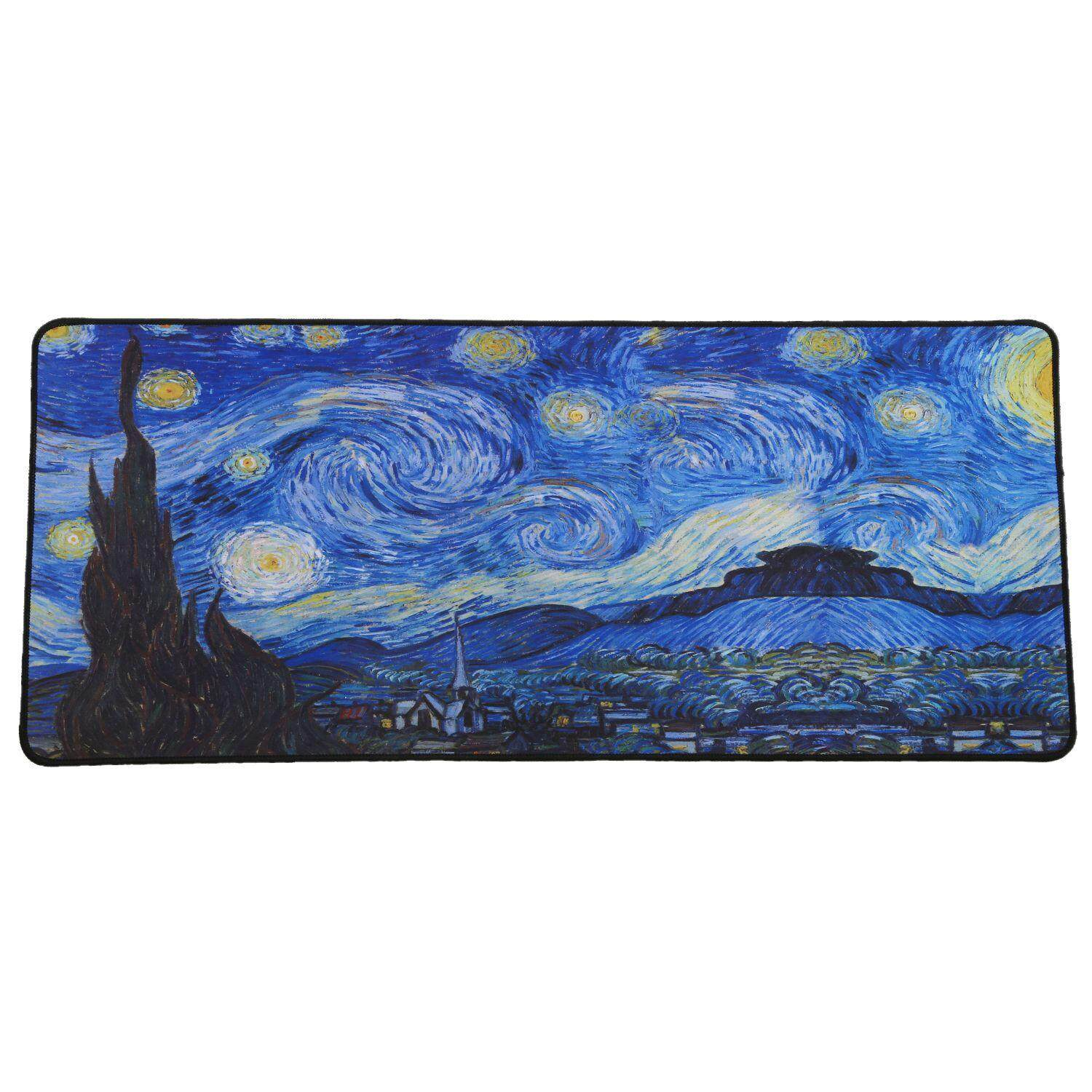 Gaming Mouse Pad Locking Edge Large Mouse Mat PC Computer Laptop Mousepad for Apple MackBook CS GO Dota2 LOL:Starry sky - intl