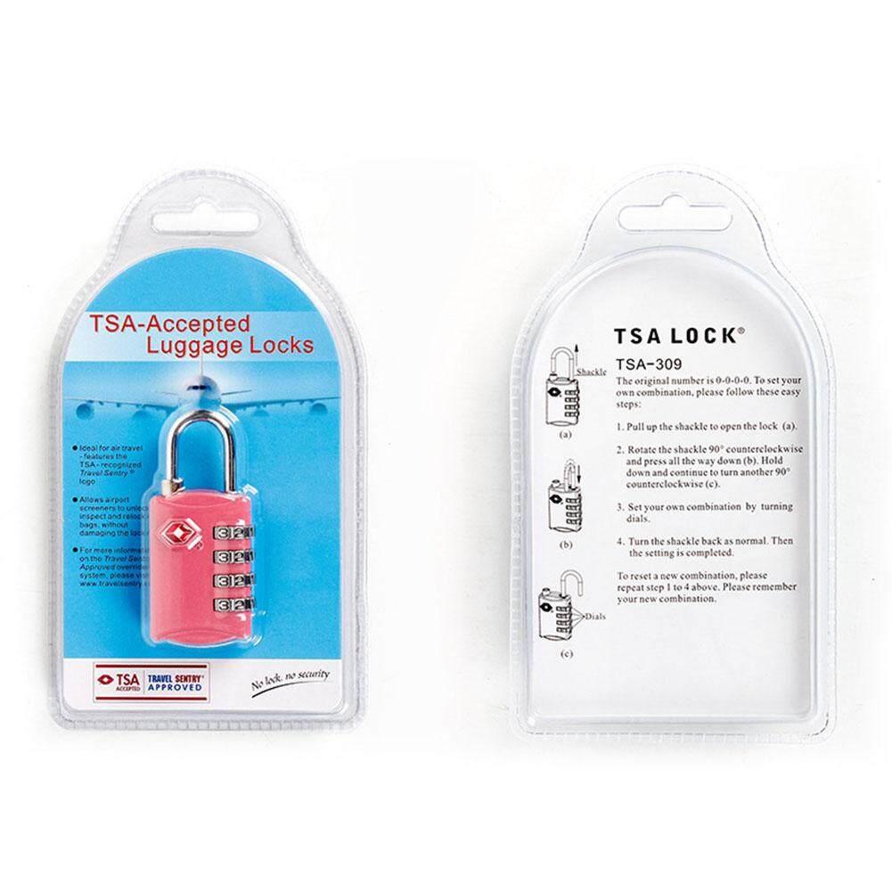 Travel Supplies Tsa Customs Padlock Customs Multi-Purpose 4 Digit Code Lock By Pellet12.
