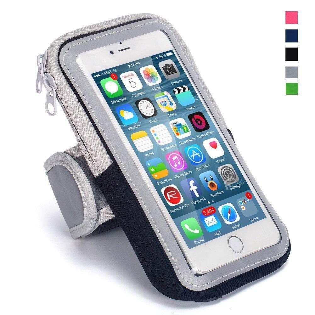 Waterproof Sport Running Arm Band Case Bag(Black 5.5 Inch)