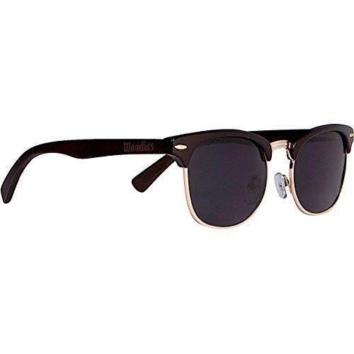 3f1c399411 Woodies WOODIES Ebony Wood Clubmaster Sunglasses with Black Polarized Lenses