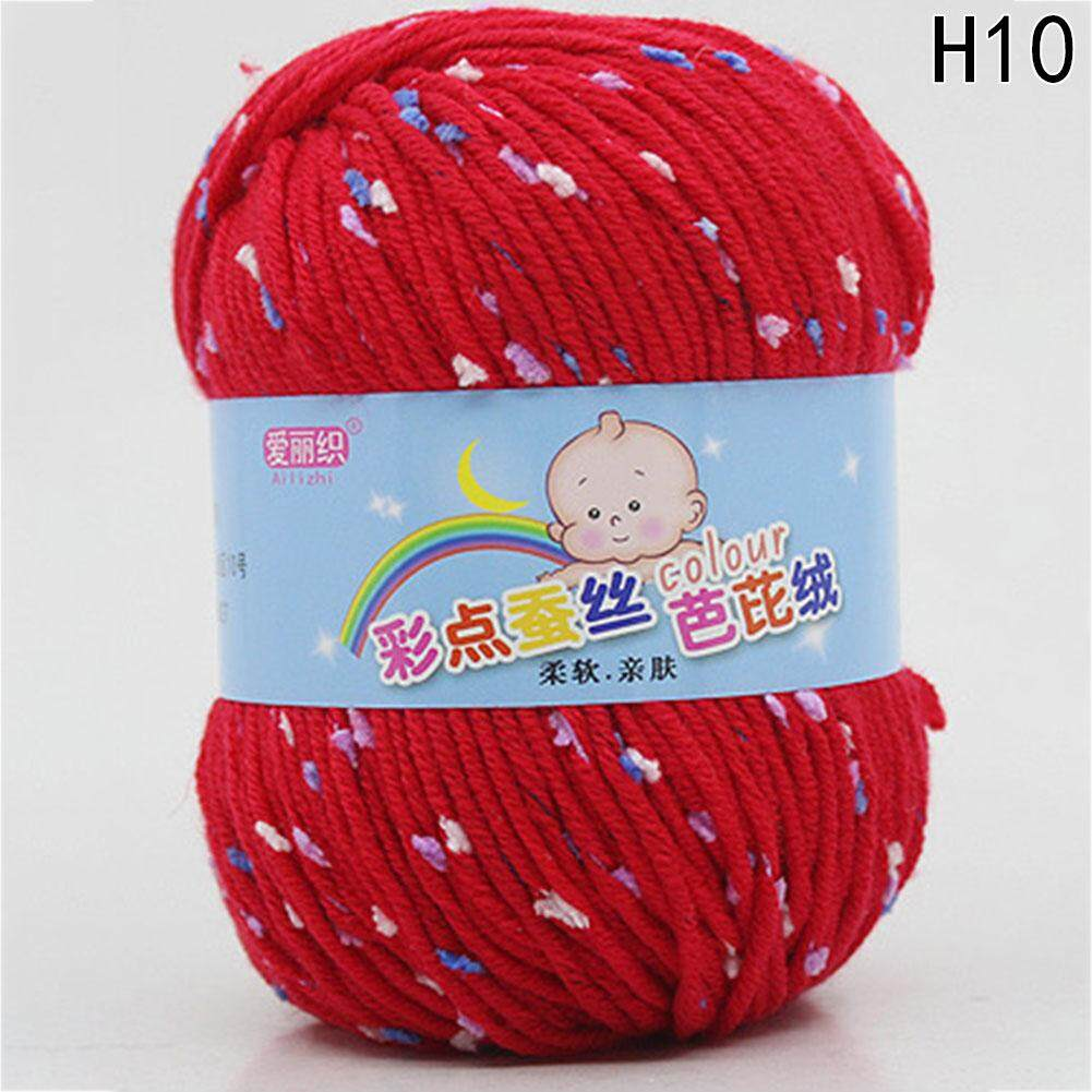 Hot Sale New Arrival Colored Silk Bobbi Cashmere Milk Cotton Middle Hand Braided Thread Baby Knit Wool Yarn H10 By Beautyzy.