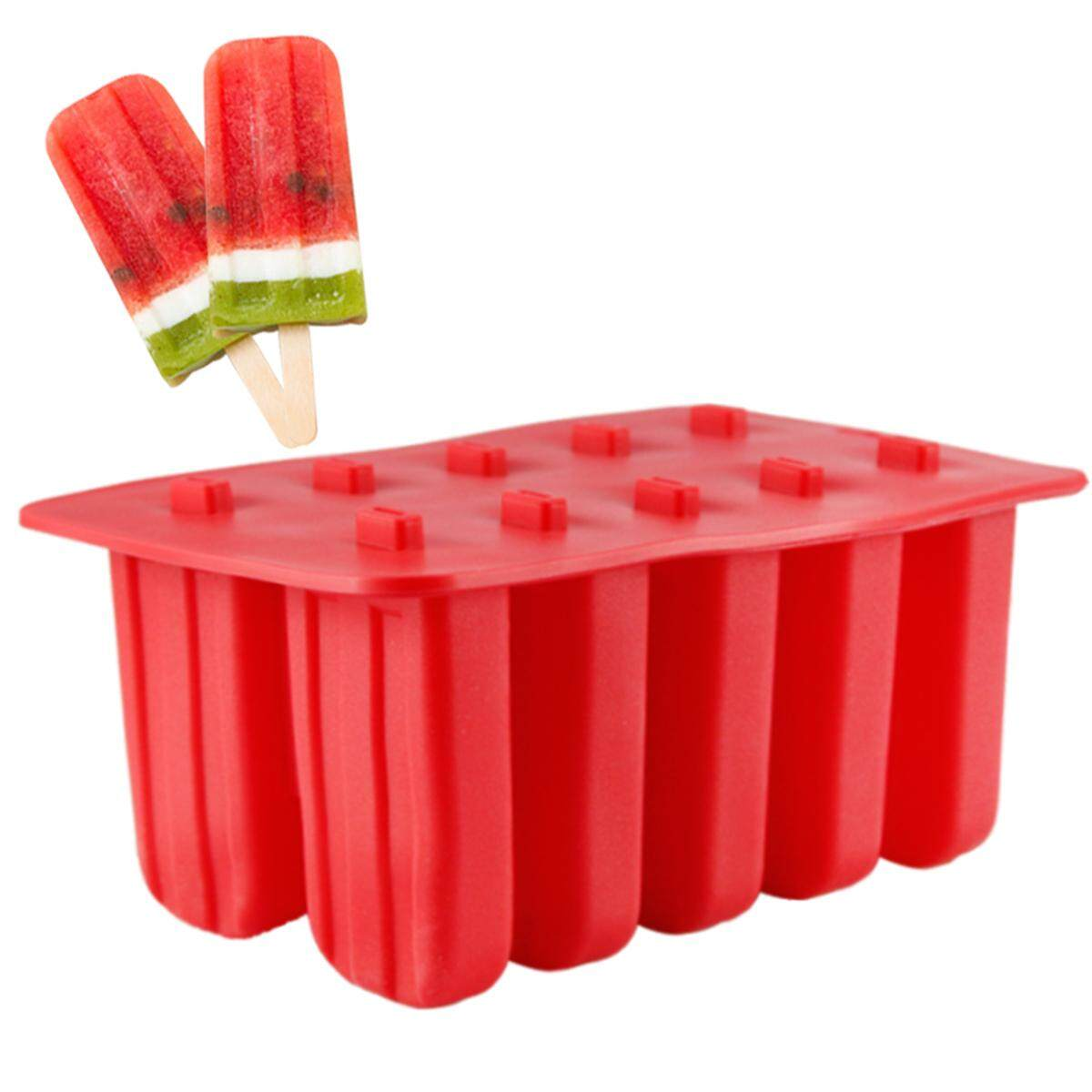 Buy Sell Cheapest Ice Cream Maker Best Quality Product Deals Mainan Anak Frozen Pembuat Set Of 10 Pop Mold Lolly Mould Tray Pan Kitchen Diy Stick