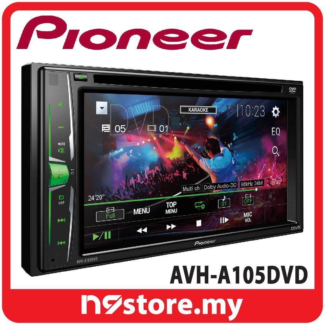 """Pioneer AVH-A105DVD 6.2"""" Double Din DVD CD USB Car Stereo AV Receiver"""