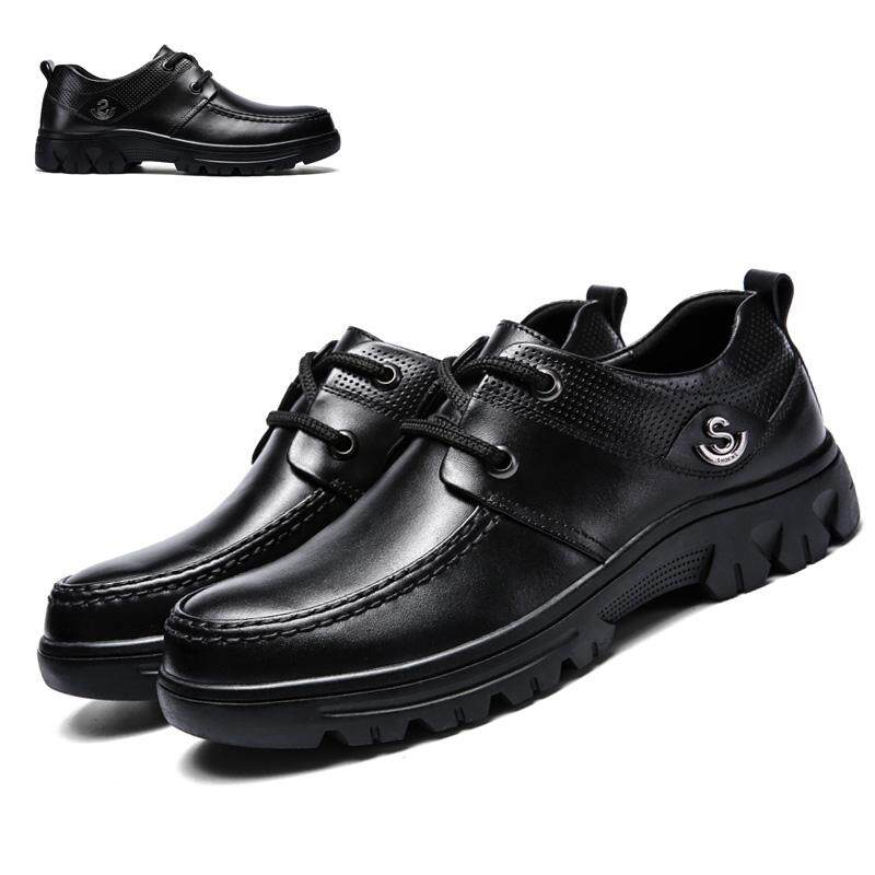 156853063ed Cow Leather Genuine Leather High Quality Formal for Man Lace Up Men Shoes  Plus Big Size