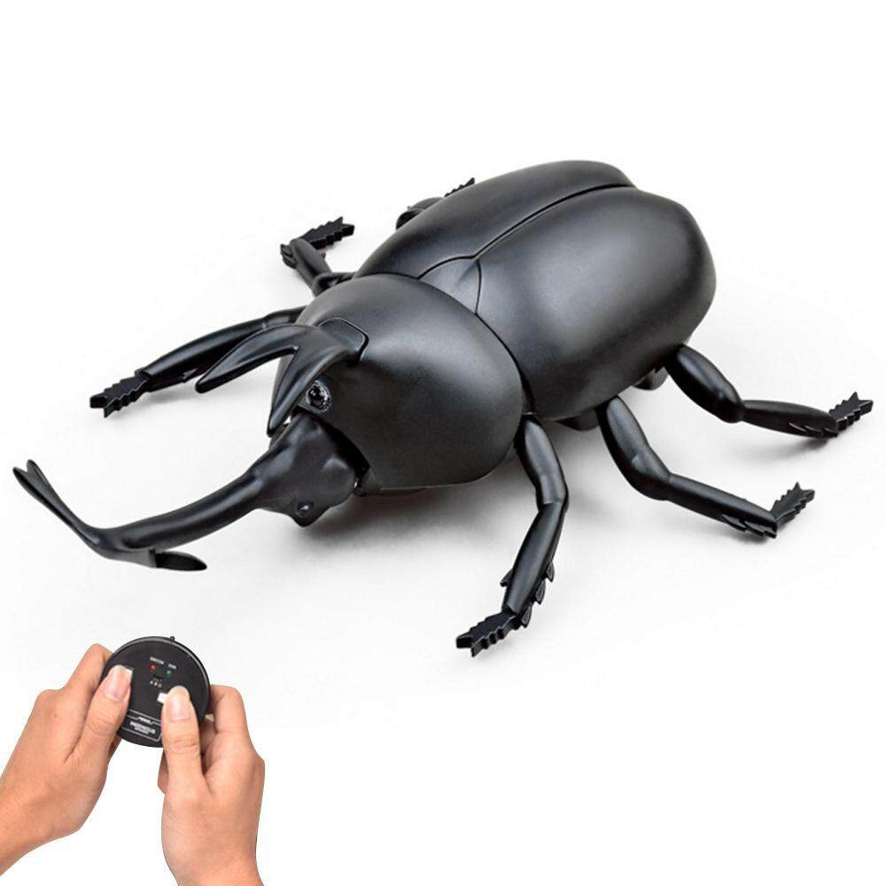 Khuyến mãi noion Electric Infrared Remote Control Animal Robotic Scarab Rhino Beetle High Simulation Insect Straight Line Reptile Model Toys - intl chỉ hôm ...