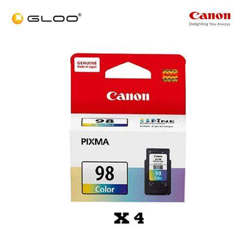 [Set of 4] Canon Ink Efficient CL-98 Ink Cartridge - TriColor
