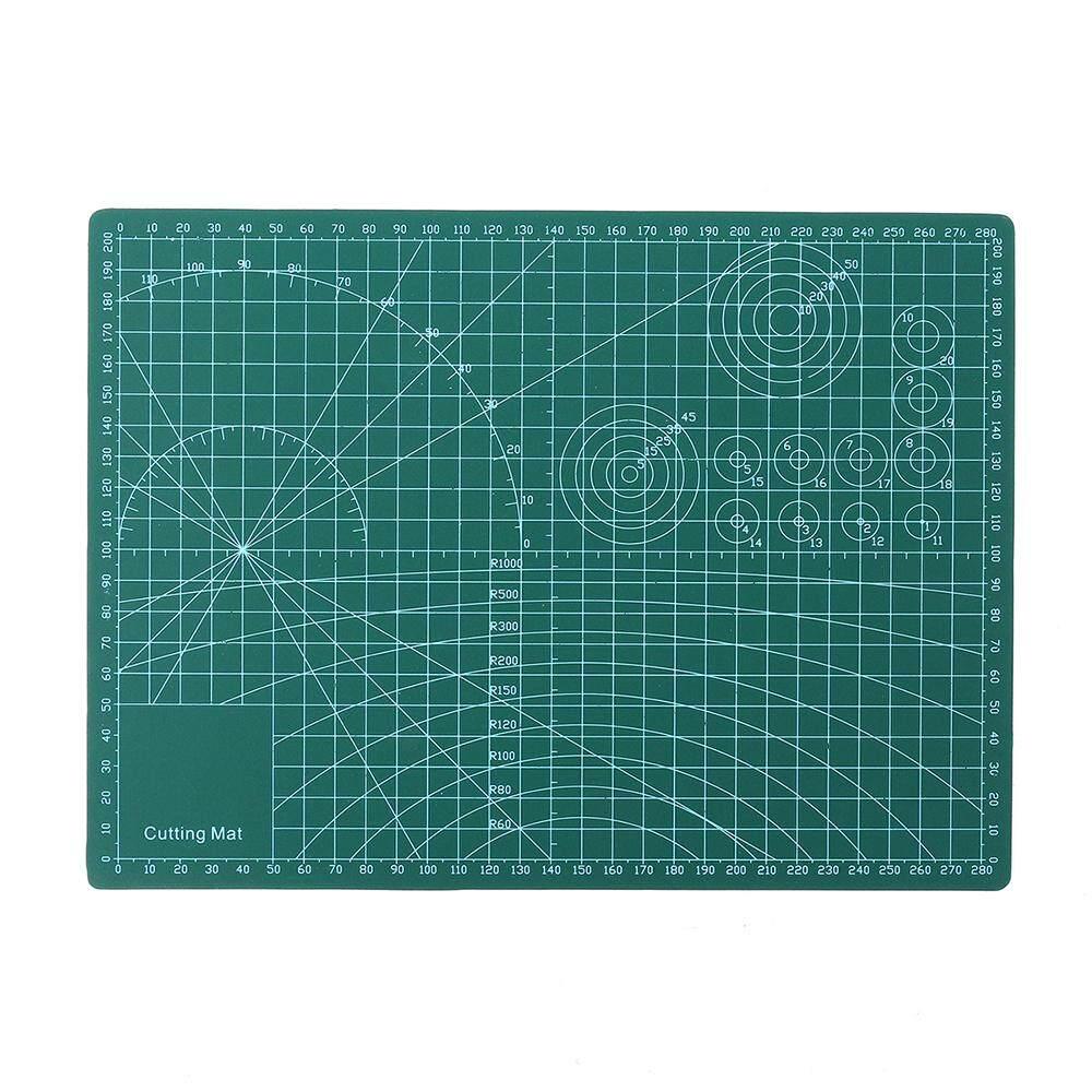 Drillpro 220mm x 300mm A4 Non Slip Cutting Mat Double-Sided Self Healing Rotary Cutting Mat Board