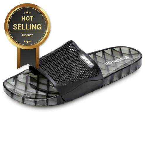 7d0a624798256f Men Casual Non-slip Open Toe Bath Shower Slippers Soft Flat Slide House  Sandals (