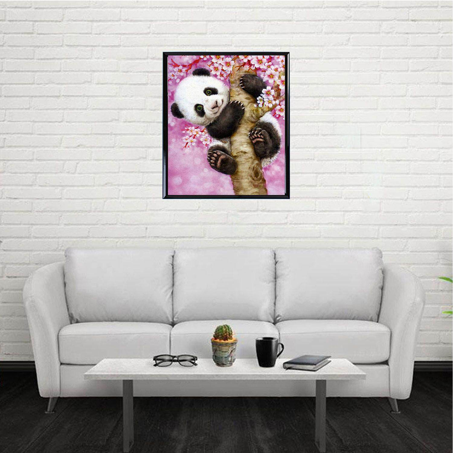 Hình ảnh 5D DIY Panda Tree Pattern Diamond Rhinestone Painting Part Embroidery Cross Stitch Picture for Home Wall Decor DIY Christmas Birthday Gift - intl