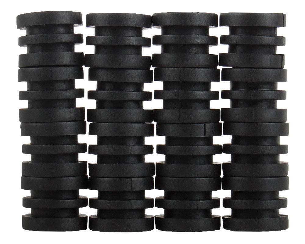 yuwen Anticollision 5/8 Inch Foosball Rods Rubber Bumpers For Foosball Table (Black) - intl