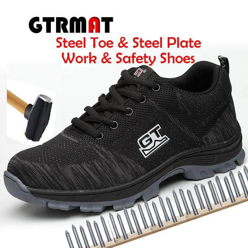 777b4409507e GTRMAT Men s Plus Size 35-46 Breathable Mesh Steel Toe Outdoor Work Safety Shoes  Men
