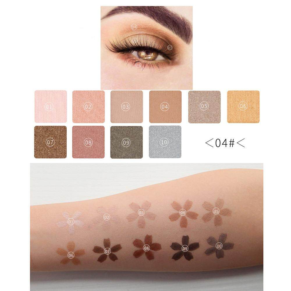 Lion Cosmetic Matte Eyeshadow Cream Makeup Palette Shimmer Set 10 Colors Eyeshadow Philippines