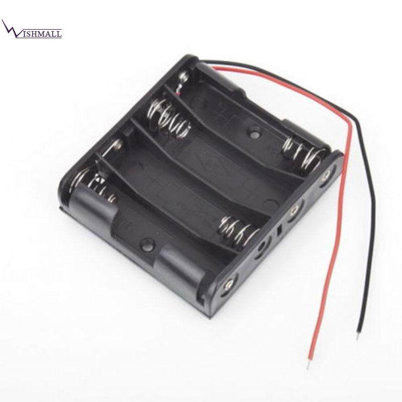 Battery Box Slot Holder Case For 4 Packs Standard Aaa 3a Batteries 6v Plastic By Wishmall.