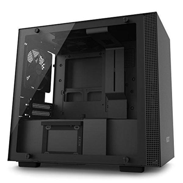 [From.USA]NZXT H200i Mini-ITX Computer Case with Smart Device Matte Black/Black (CA-H200W-BB) B0776YPM6K Malaysia