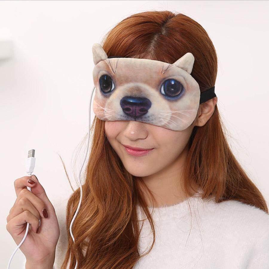 1 Pcs Steam Sleep Mask Usb Heating 3d Cartoon Eye Shade Hot Compress Relieving Eye Fatigue Cover Eye Patch Eye Mask Blindfold Adjustable By Guasslee