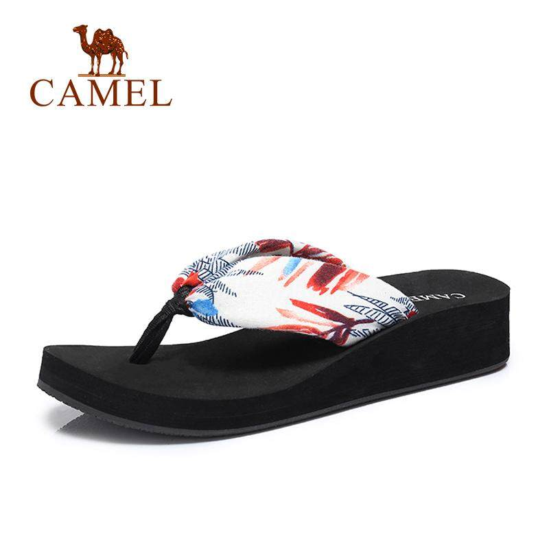 3dc30bf4e298 Camel women s shoes 2018 summer new fashion simple thick bottom non-slip  beach sandals high