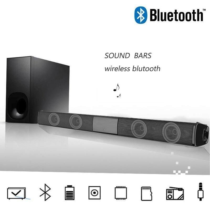 Detail Gambar Wireless Bluetooth Soundbar Speaker TV Home Theater Soundbar + Remote Control(Gold)(15.75 INCH ( no remote )) - intl Terkini