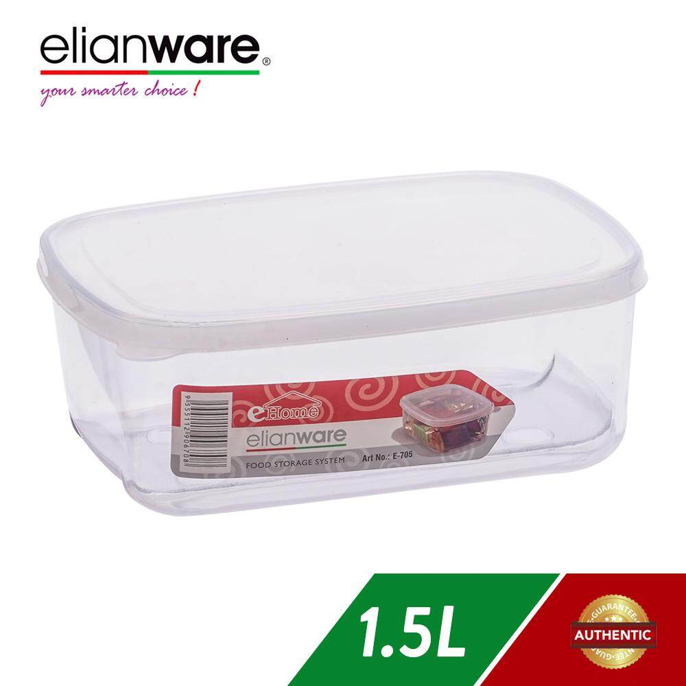 Elianware 1.5 Ltr Transparent Airtight Food Keeper