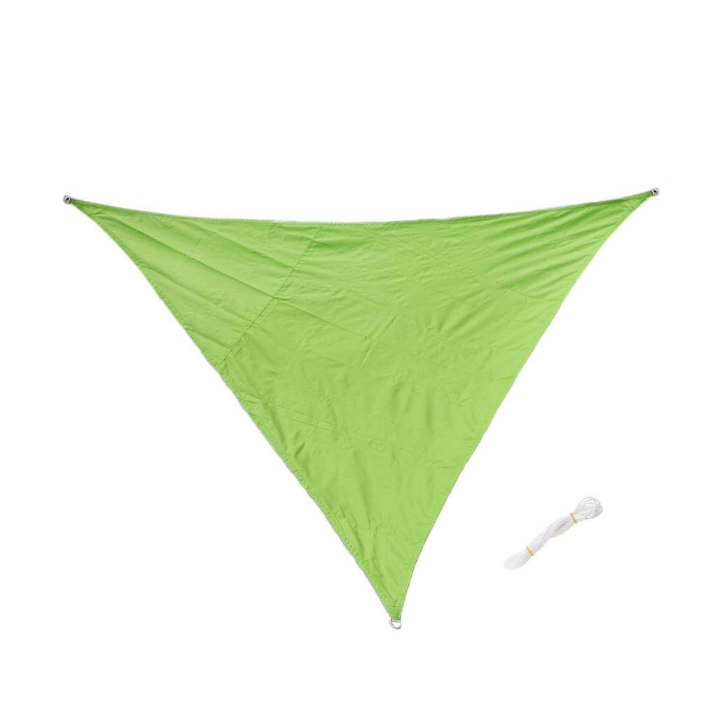MagiDeal Triangle UV Block Sun Shade Sail Outdoor Garden Pool Deck Green 3m