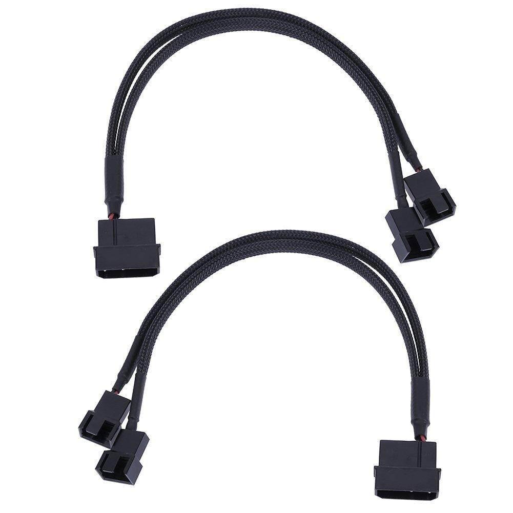 4pin Ide Molex Ke 4 Port 3 Pin Cooler Pendingin Fan Splitter Kabel Power To 4x4pin Socket 2pin Wire Black Sleeved Cable 2pcs 27cm 2 3pin Cooling