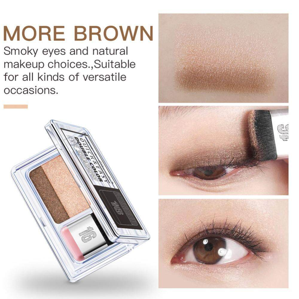 2 Colors IDLER Gradual Eyeshadow Powder Palette Shining Matte Glitter Eyeshadow Makeup - intl