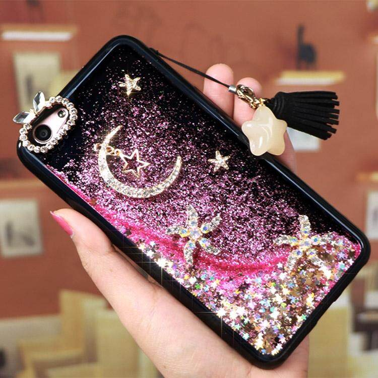 Star Moon Glitter Liquid Quicksand Case Phone Casing Soft Cover for Oppo F3 .