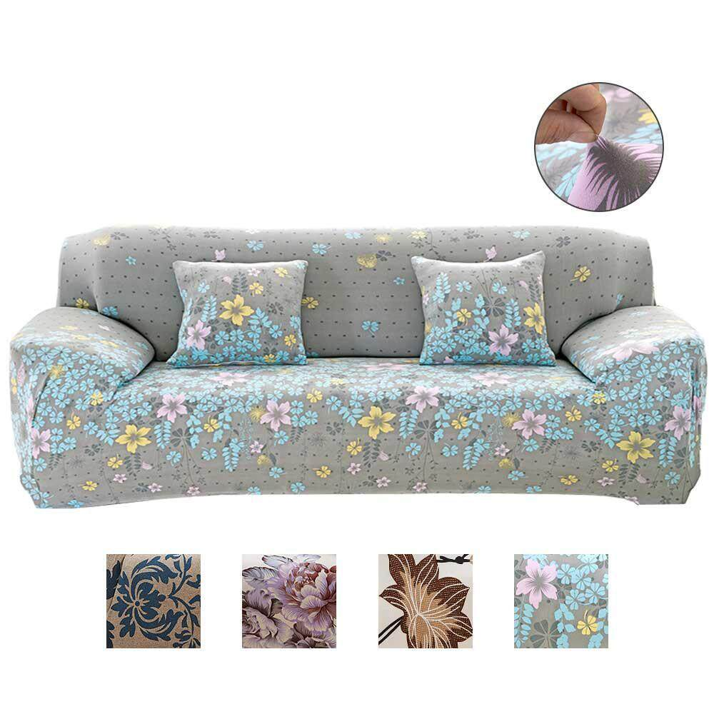 OEM 4 Seater Sofa Covers, 2018 New Stretch Sofa Slipcovers Super Fit Living Room Furniture Protector With Printed Pattern, Snag Resistant & Soil Resistant - 235-300cm/93-118